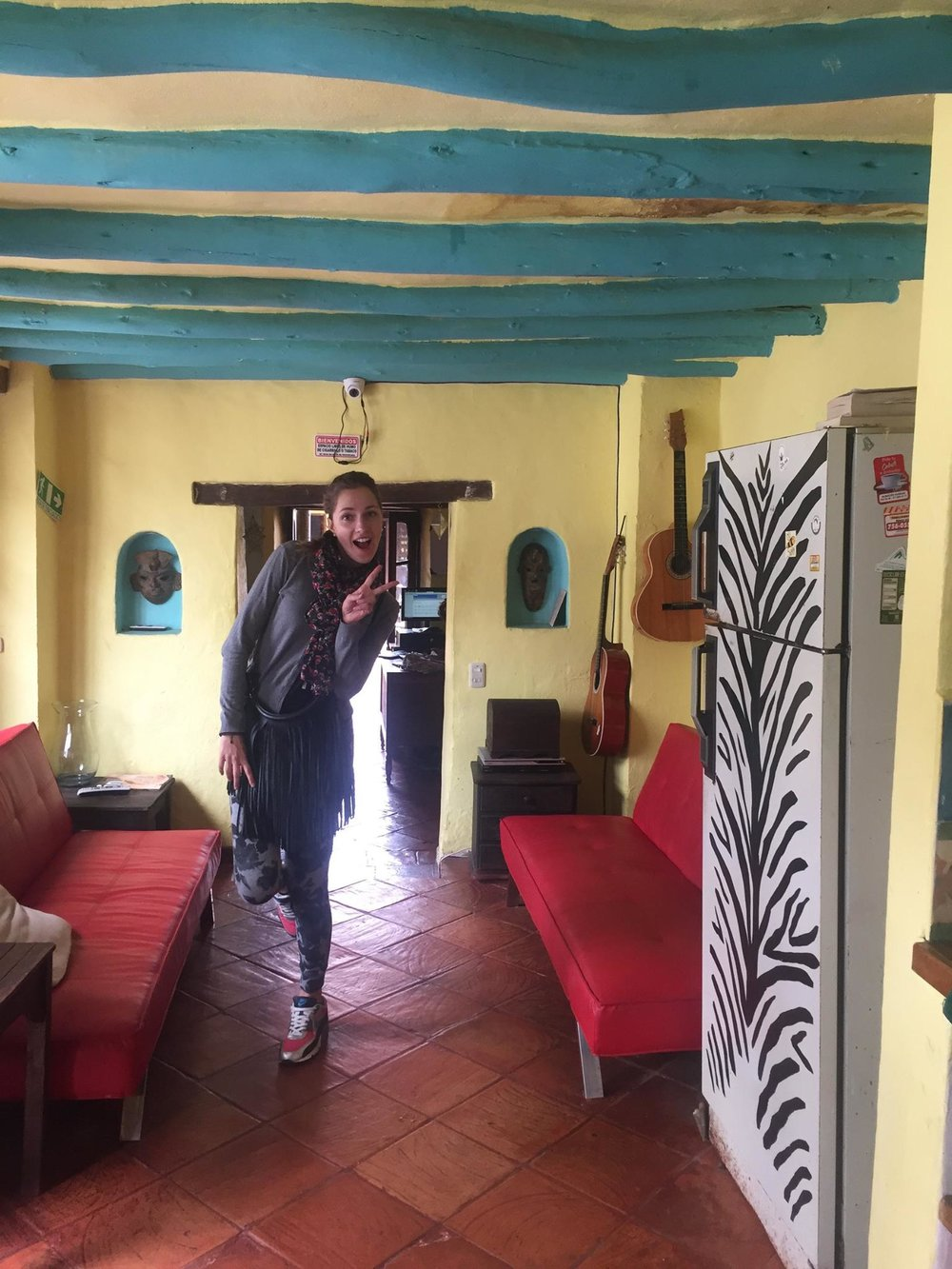 Alegria's hostel.