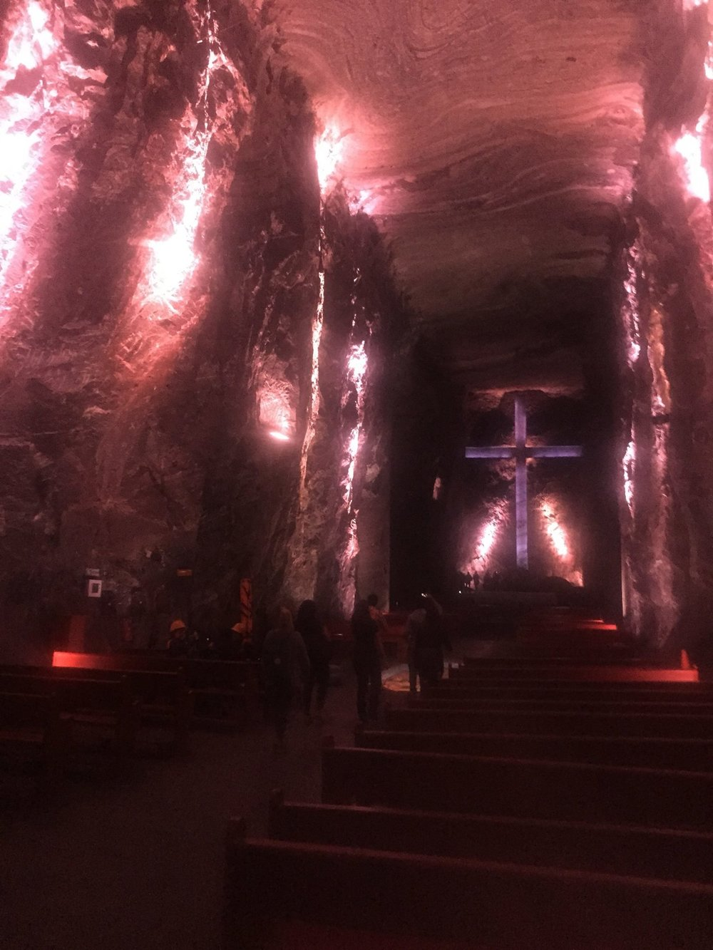 Underground Salt Cathedral Zipaquirá.