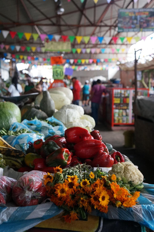Cali produce market.