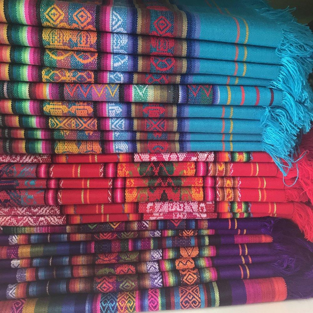 Traditional Ecuadorian textiles.