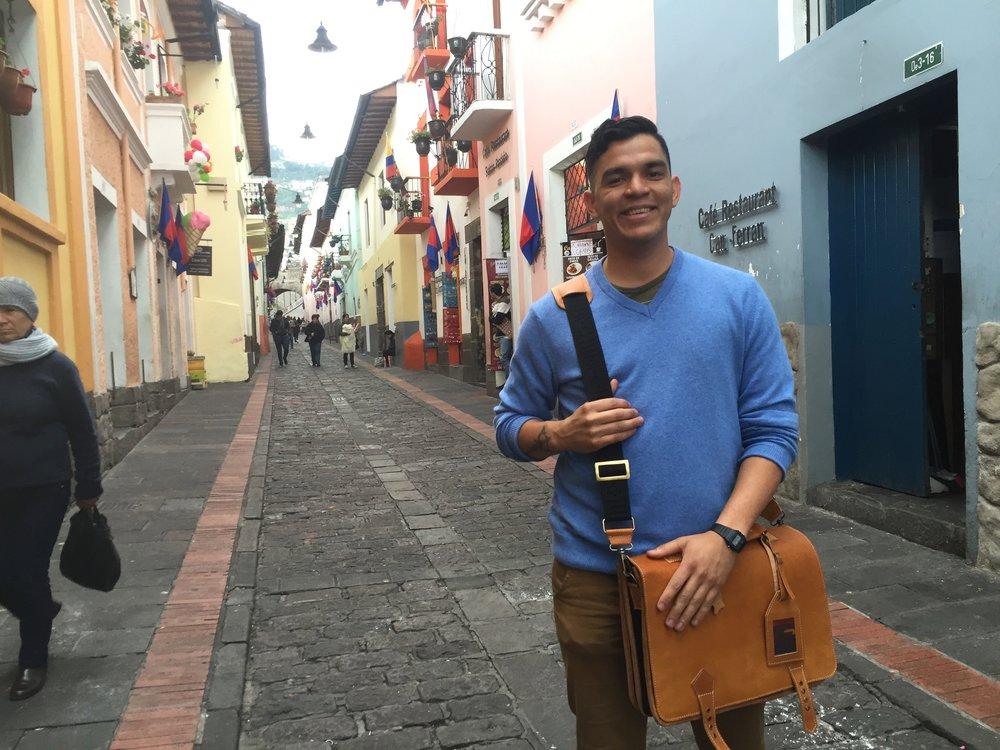 A friend in la Ronda, Quito.