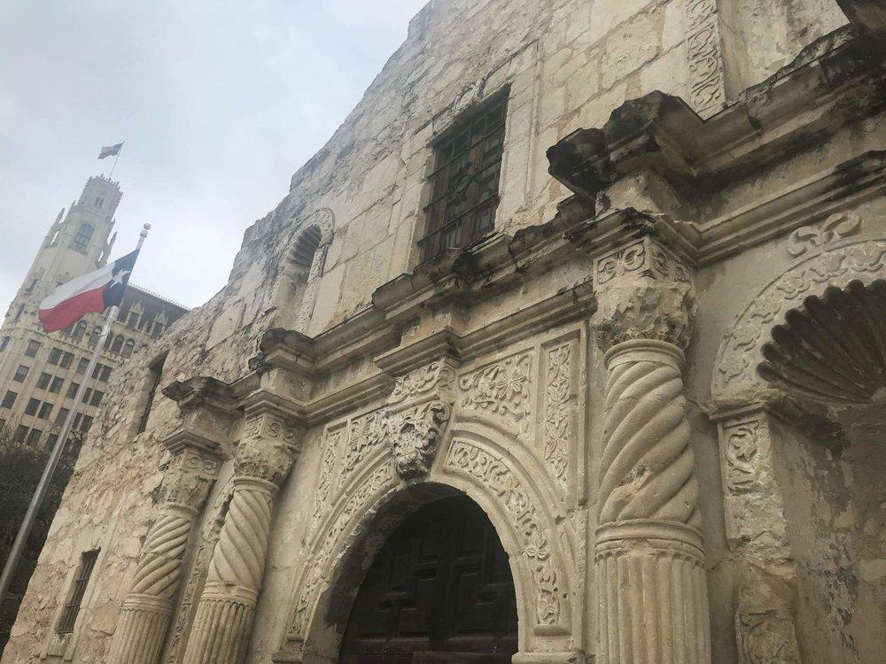 The historic Alamo in San Antonio.