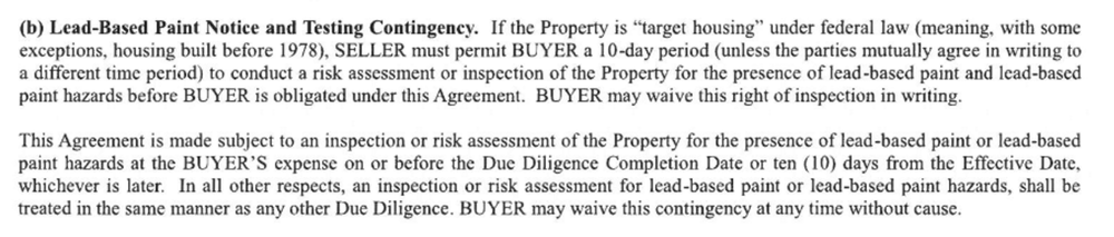 From Berkshire Hathaway's Purchase and Sale Agreement