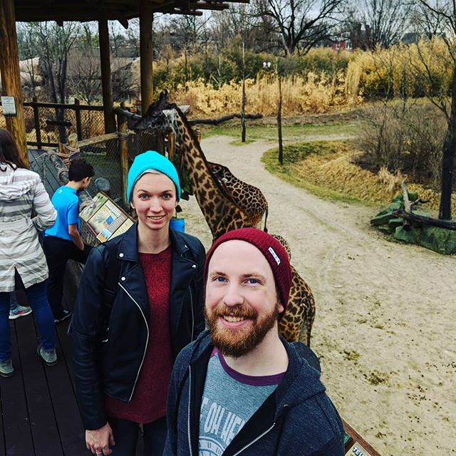 That one time Discoverer went to the Cincinnati Zoo before our show and saw GIRAFFES! 🐐 #discovertour #cincinnatizoo #giraffe
