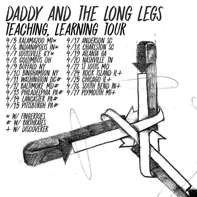 HITTING THE ROAD NEXT MONTH! With the fabulous, talented, and realest folks of @daddyandthelonglegs for the last four days of their album release tour. The album will be excellent and the shows will be excellent-er. . . . #discoverermusic #daddyandthelonglegs  #discovertour #newmusic #michiganmusic #chicagomusic #tourdates #diymusic #midwestemo #folk #herewecome