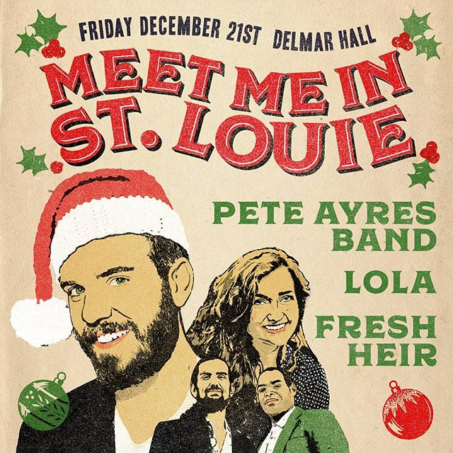 @freshheir is playing our annual #christmas show at @delmarhallstl with @peteayresband and @musicoflola  @drumsavage18  It's gonna be a party y'all!