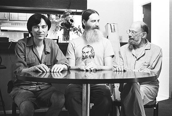 Jeff, Antler, and Allen Ginsberg