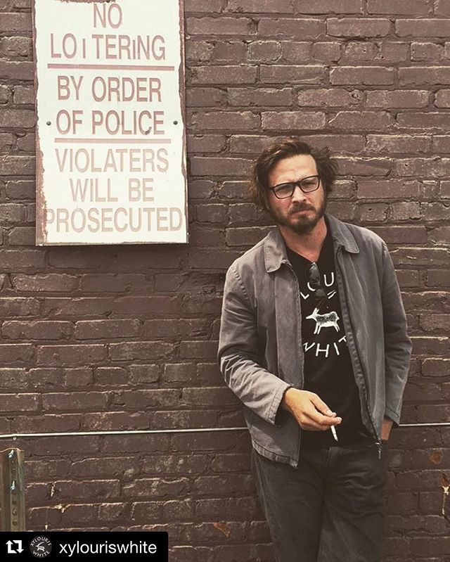SUCH a violator. Happy #rectify Season 4 @adenyoung !  #Repost @xylouriswhite ・・・ #AdenYoung from #Rectify TV show sporting #xylouriswhite