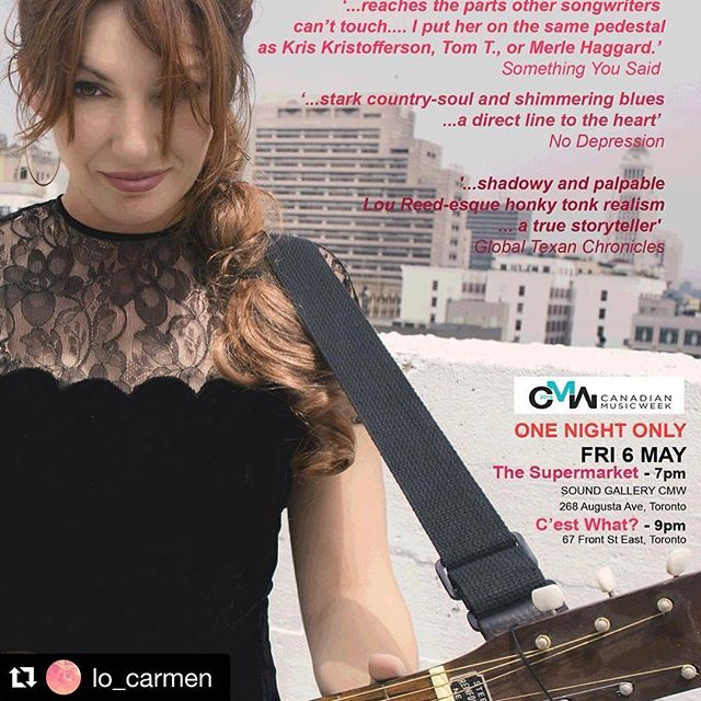 So not only are we lucky enough to have a @lo_carmen song in our movie, but now she's playing in Canada next month??? Would LOVE to see her live! Toronto May 6.  #Repost @lo_carmen ・・・ Sure hope those Canadians are nice to me..... #mw2016