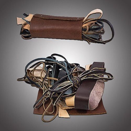 Leather cords and pieces