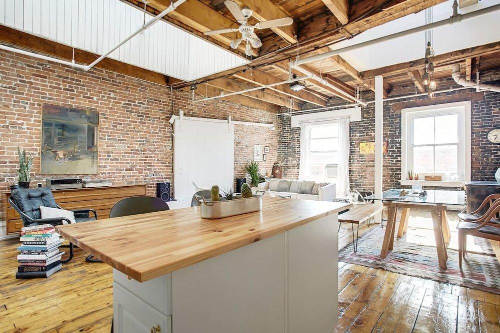 interior design rustic loft in long island city ny interiors by