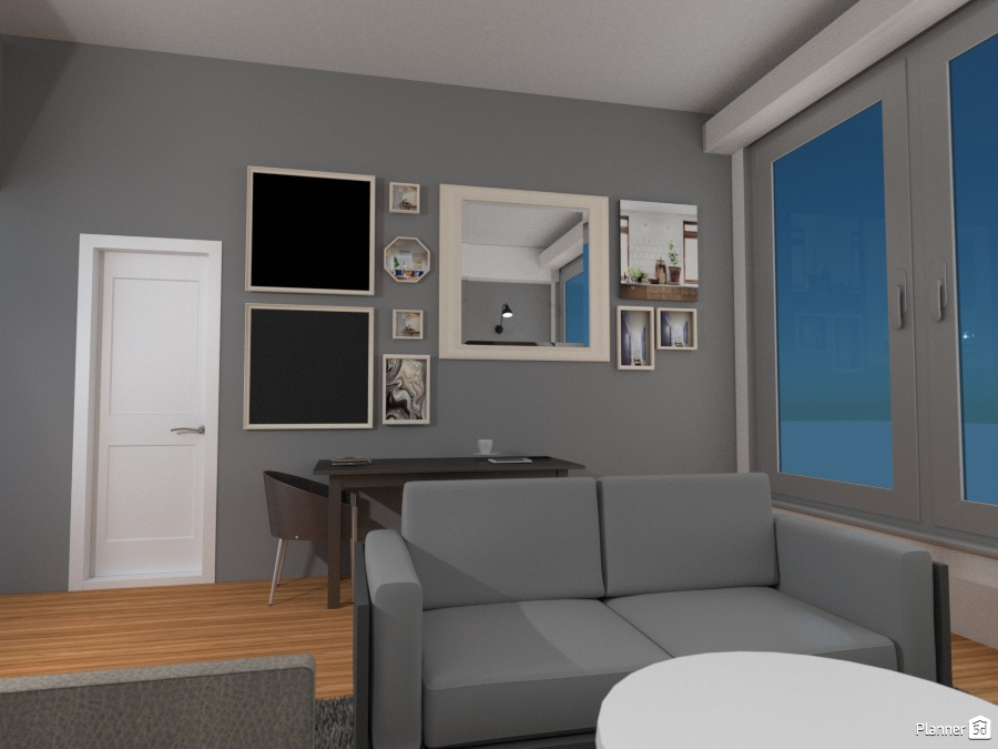 EXAMPLE OF GRAY WALL COLOR IN MAIN AREA