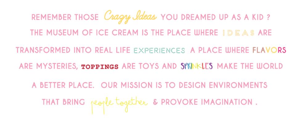 From Museum of Ice Cream's website