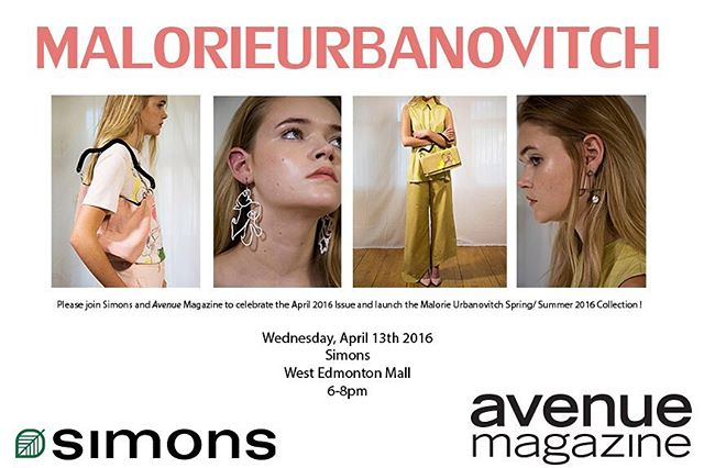 Join us and @avenue_edmonton at @maisonsimons next weds to launch our SS16 collection! 🎨💕 #yeg #yegfashion #yegevents