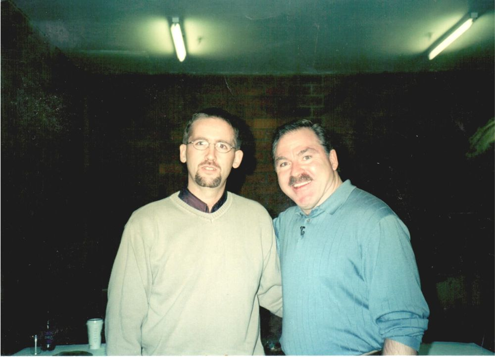 Chris with Medium James VanPraagh (2001)