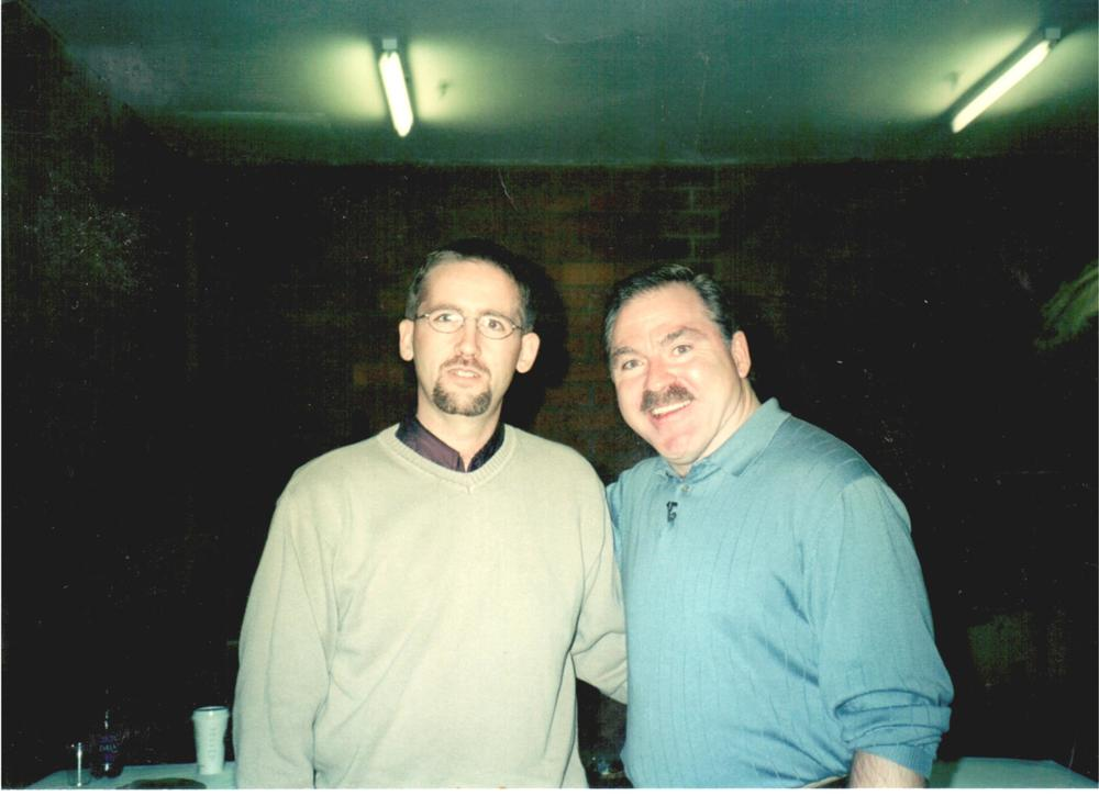 Chris with Medium James Van Praagh in 2001