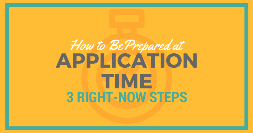 CASPA application pre-steps
