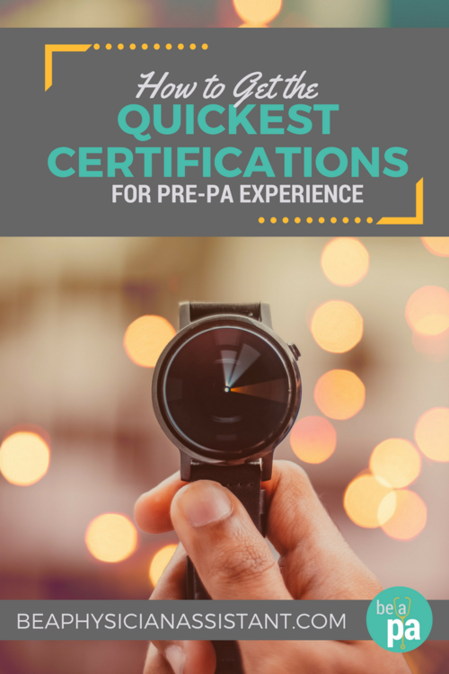 How to Get the Quickest Certifications for Clinical Experience|Be a ...