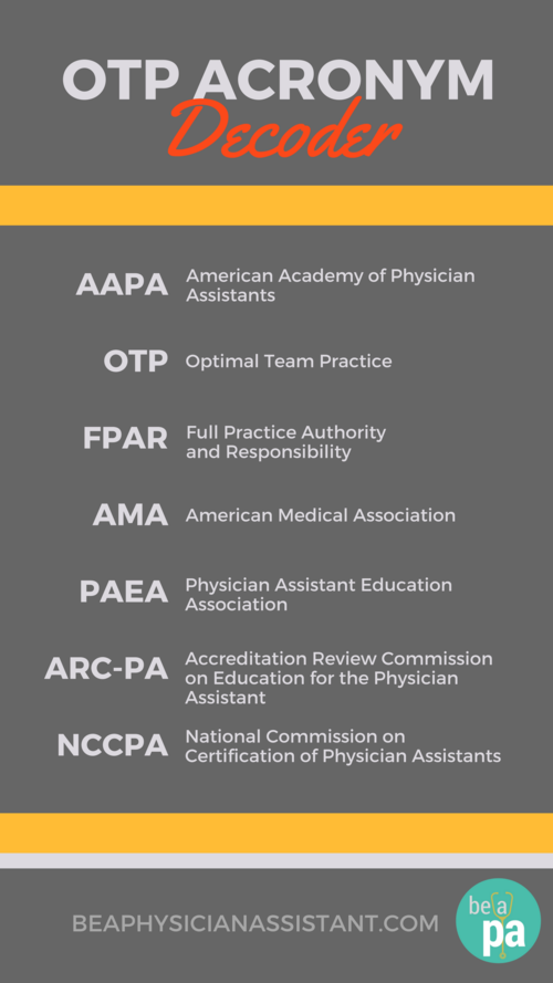What is OTP? (And Why It Should Matter to You)|Be a Physician Assistant