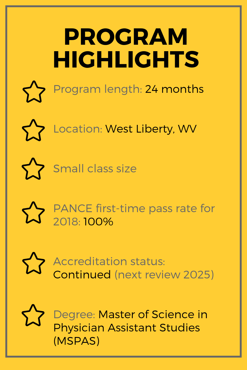 West Liberty University PA Program HighlightslBe a Physician Assistant