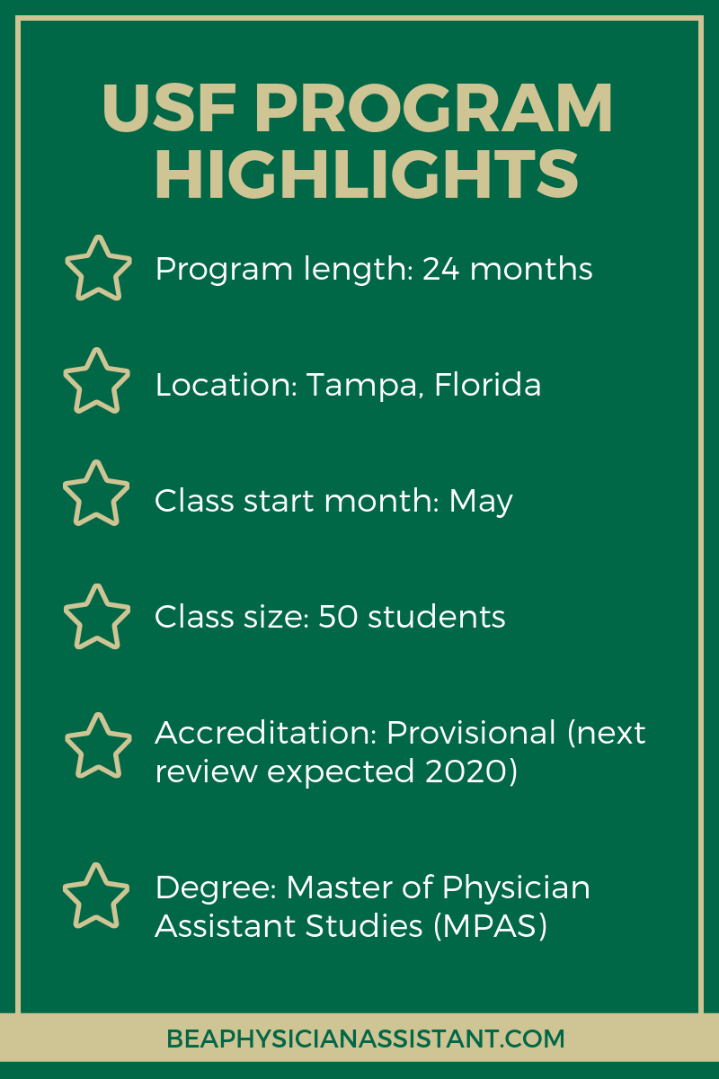 USF PA Program HighlightslBe a Physician Assistant