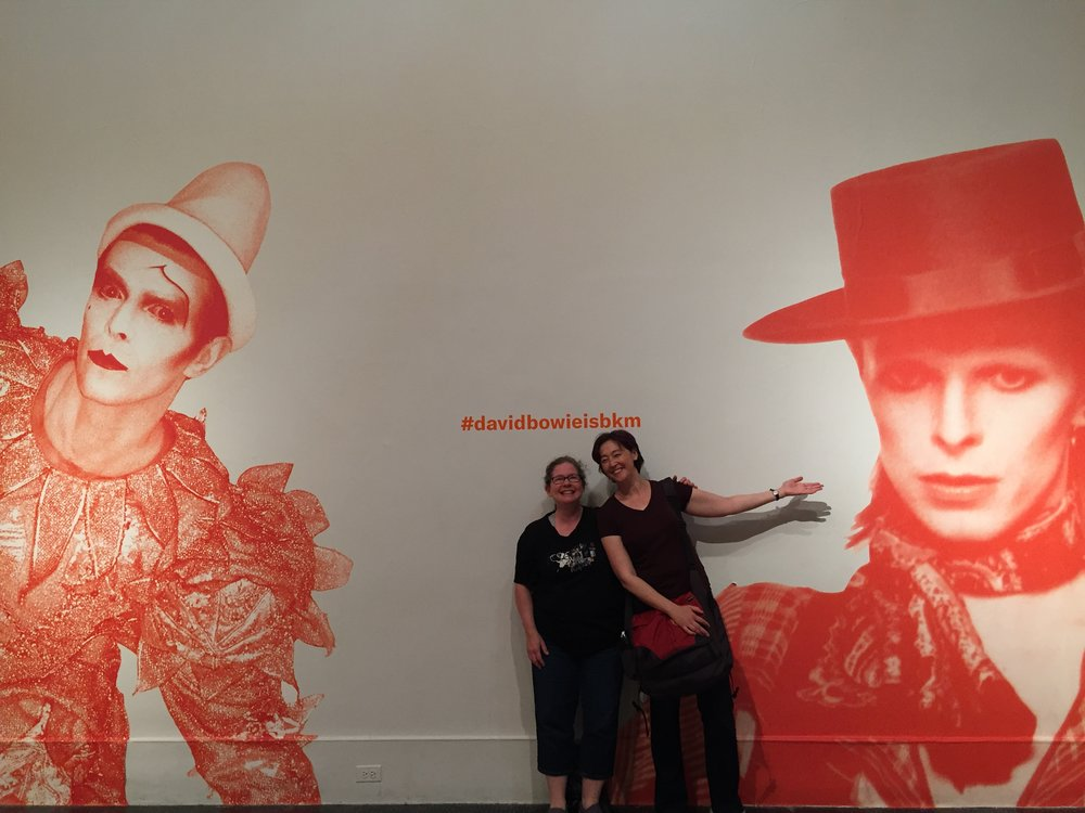 About to be inspired: my friend Emily and I at the entrance to the David Bowie Is exhibition at the Brooklyn Museum.