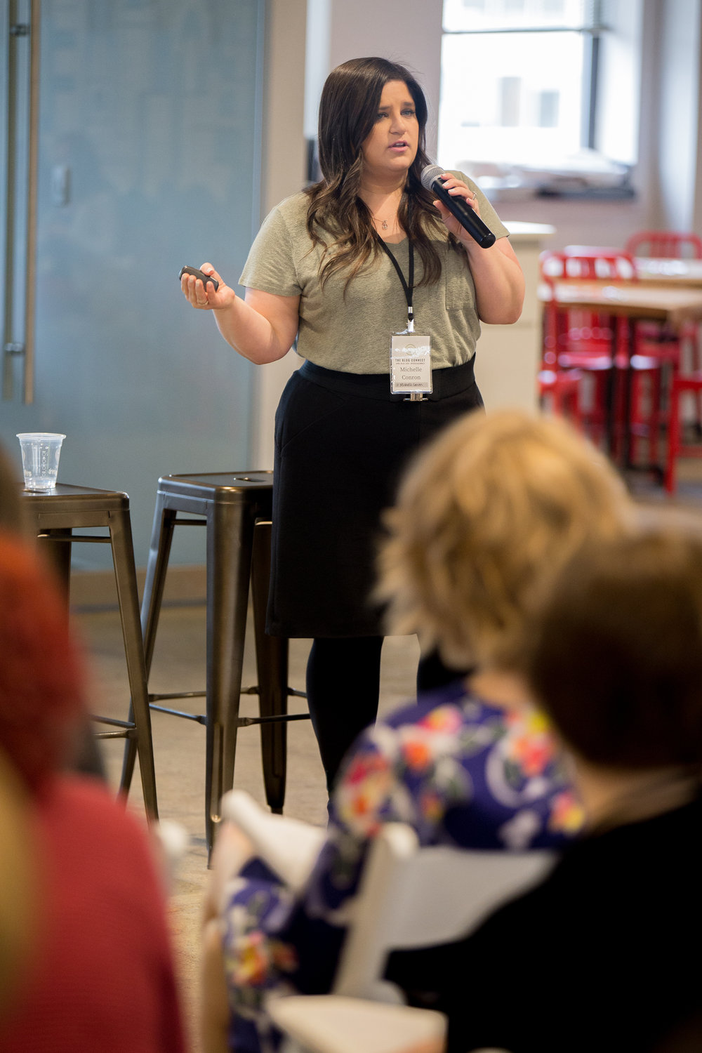 Michelle Conron from Cashman & Associates presenting at The blog Connect 2018. || Photo by  Tim Becker Photography