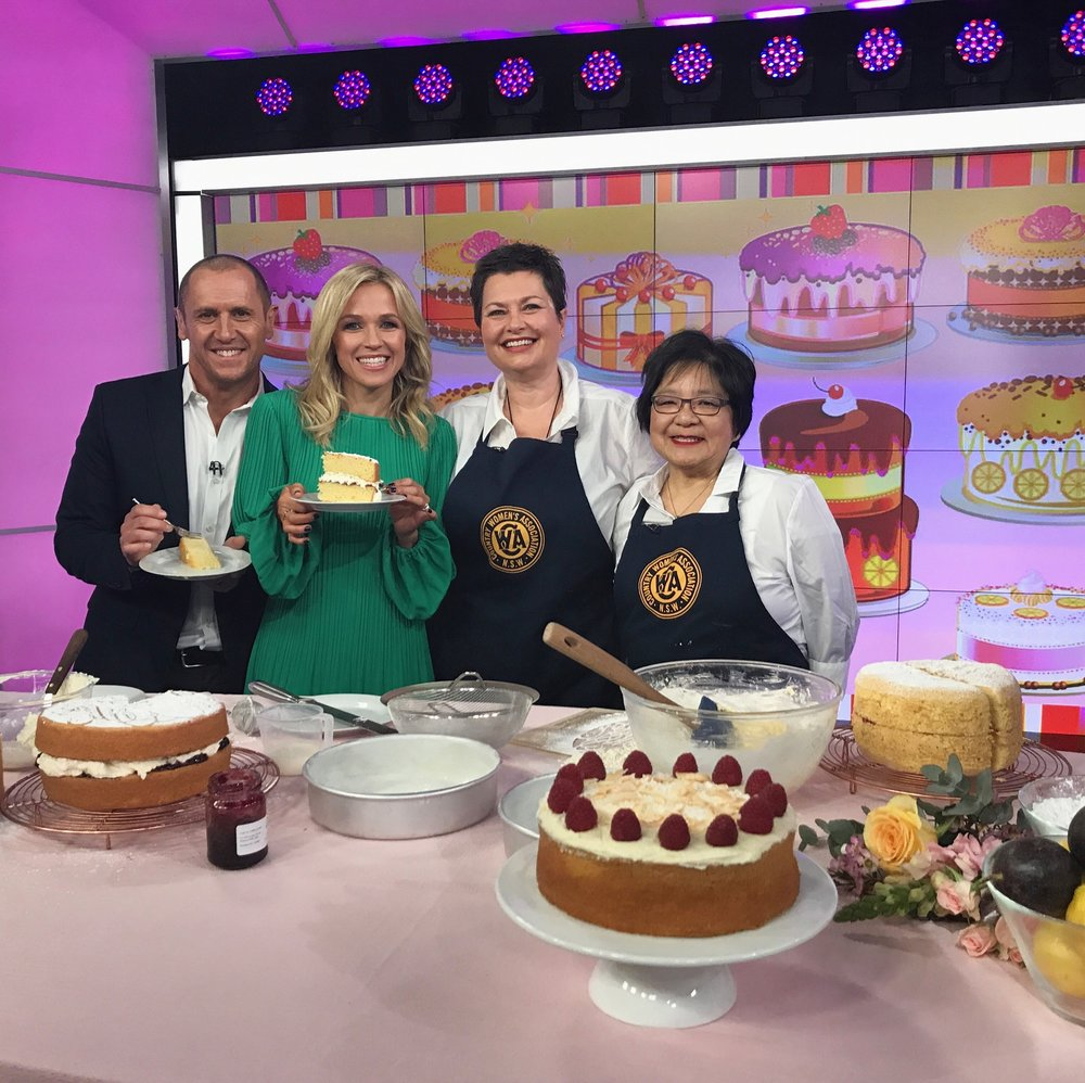 CHANNEL 7's MORNING SHOW  See how we celebrated National Sponge Cake Day