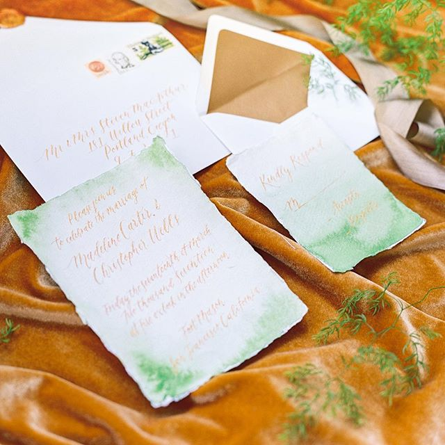 Hope everyone remembered their green today! So excited to see this amazing styled shoot featured at @greenweddingshoes! . Planning + Design // @brannan_events  Photography // @daniellepoffphoto  Floral // @twfloraltruck  Rentals // @thechiavariguys  Linens // @partycrushstudio  Calligraphy + Invite // @oxfordletteringco  Venue // @lighthousegcm  Hair // @taycstyles  MakeUp // @mu_by_adele  Cake // @mapetitemaisoncakedesign  Videography // @imaginemproductions  Artisan Gift Box // @boxandbow  Models // @chelschroeder + @marrisonhullin