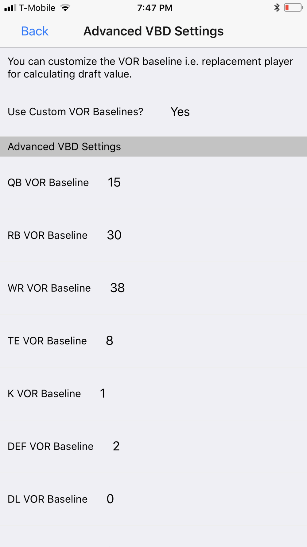 Advanced VBD Settings