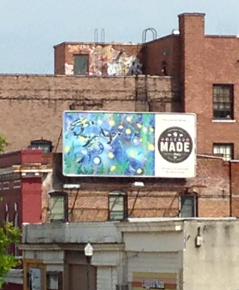 College Hill Alliance offered to put my artwork on a billboard around town in 2015.
