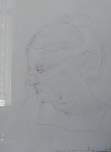 Study of da Vinci's Virgin Mary