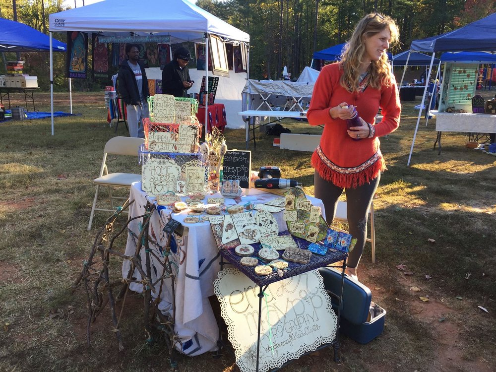 Tiny display at Hipster Yard Sale. Atlanta, GA. Fall 2016.