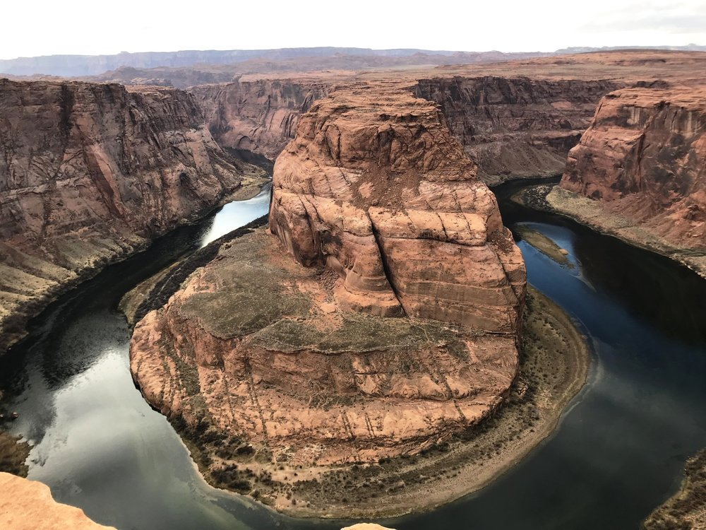Horseshoe bend.