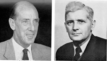 Robert Chrystal (left) and John Creer (right) in the 1950s