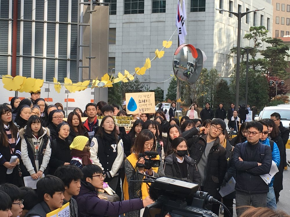 Japanese Embassy and Wednesday Demonstration