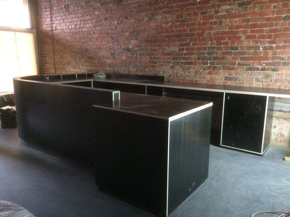 The bar takes shape.