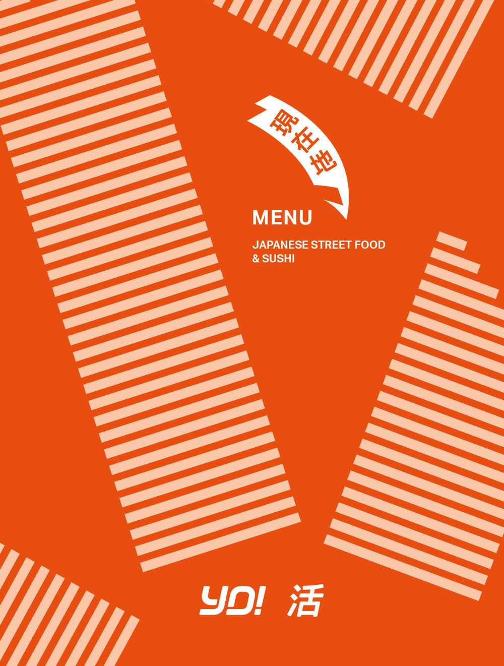 NYC Menu Design, a cooler, bolder YO!