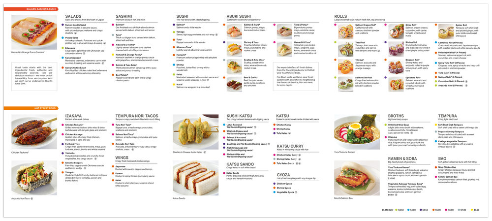 The layout makes it easier to find hot & cold dishes.
