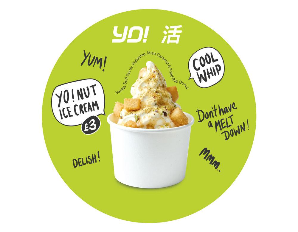 Ice Cream Menu for Southbank restaurant