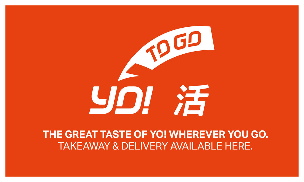 With the release of the new menu, I developed a new takeaway logo as part of the YO! Brand.