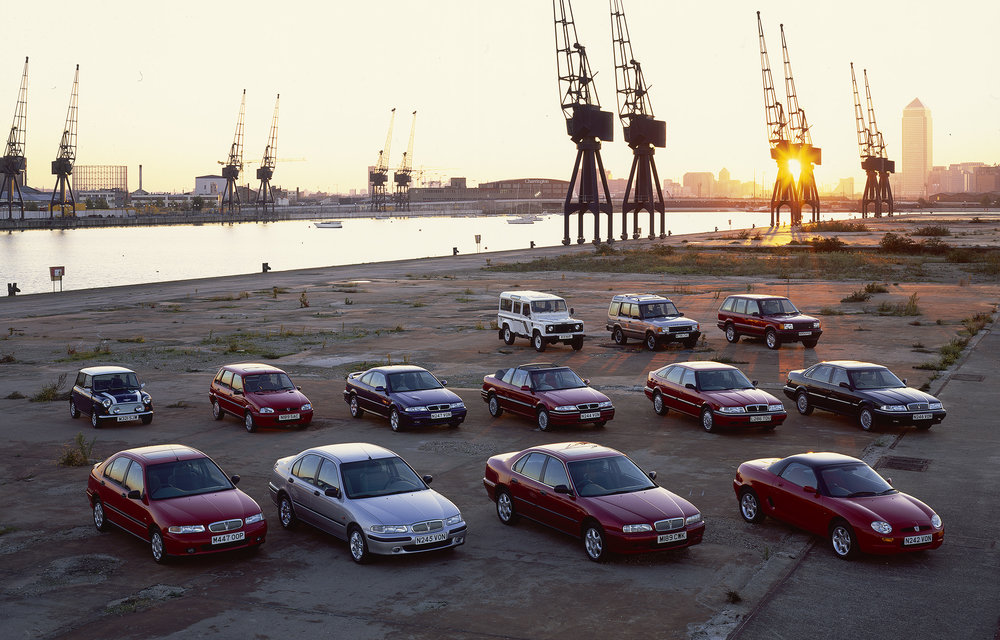 Rover Cars at the Royal Victoria Docks London  BMW Annual Report 1995