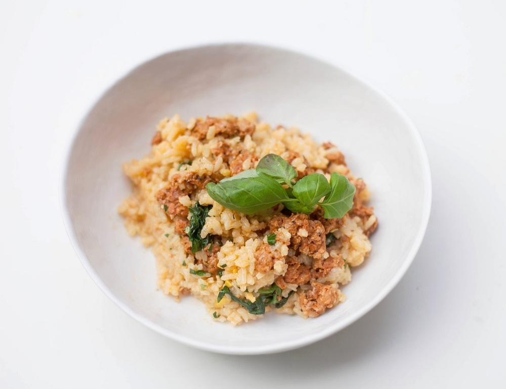 Chorizo, Spinach and Lemon Risotto