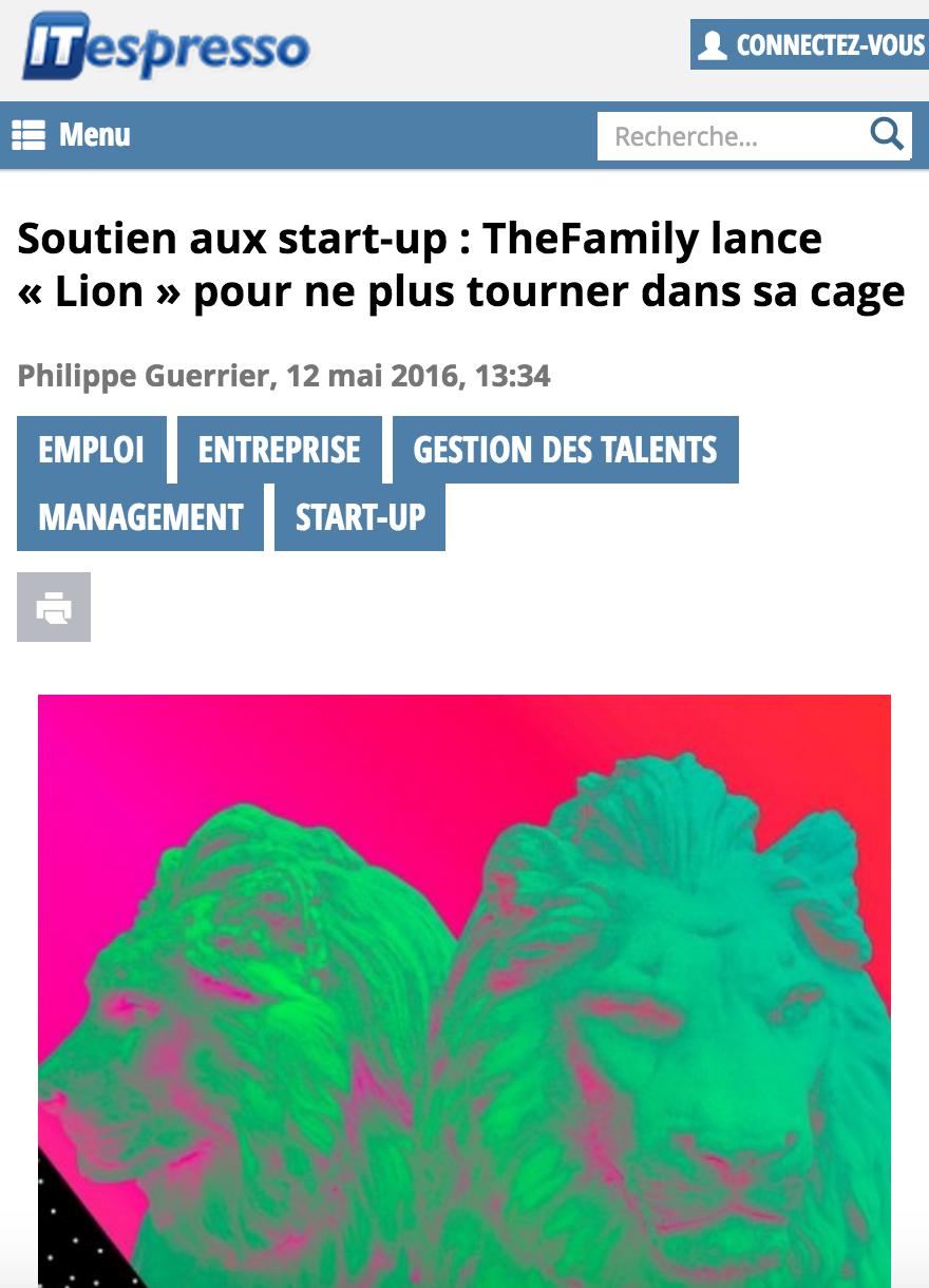 itespresso.fr-soutien-start-up-thefamily-lance-lion-pour-arreter-tourner-cage