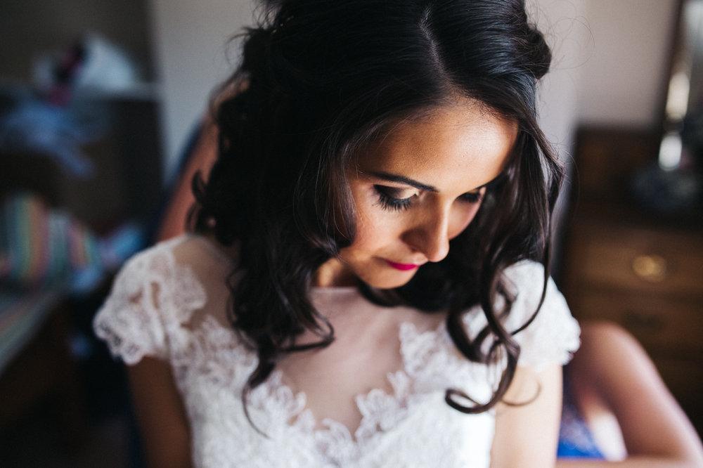 a portrait shot of the bride. diy village hall wedding venues north yorkshire northallerton. stop motion wedding films uk