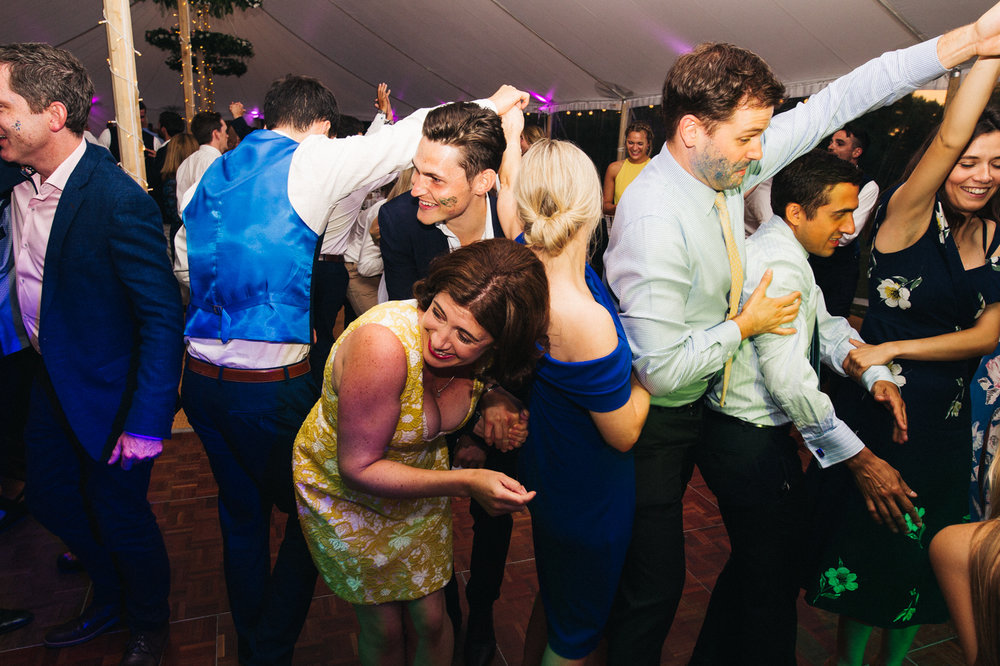 a chaotic shot of the ceilidh. aldby park wedding york north yorkshire teesside photography stop motion wedding films uk