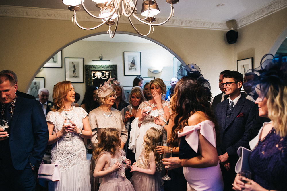 guests laugh and look emotional during the wedding speeches. cleveland tontine wedding teesside north yorkshire - relaxed and creative wedding photographer