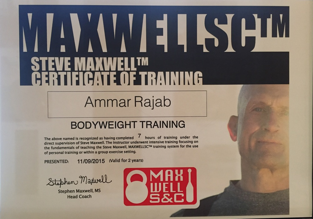 Body Weight Training Certification