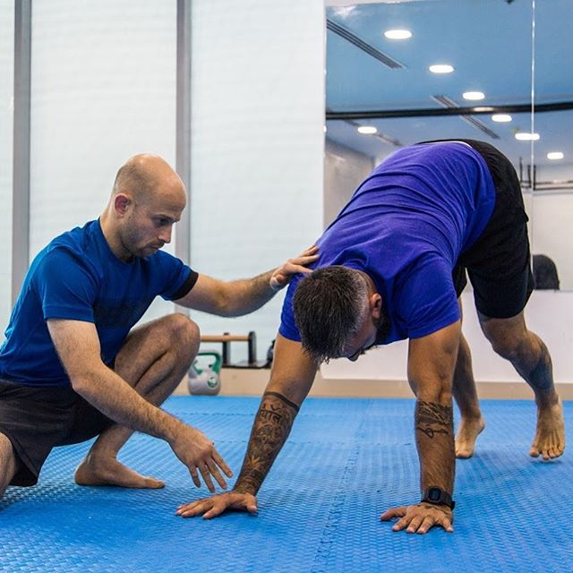 Movement & Mobility Classes every Saturday from 10:00am to 11:00am  at @mettle_bh  We work on - Joint Mobility - Build strength in end ranges for Stronger wrists, arms, legs and core - Better coordination, agility and balance - Flexibility for Extended range of motion in your shoulders - Comfort in odd or unexpected positions - And greater overall physical skill.  Send DM for details.  #movementbahrain #movementclasses #jointmobility  #improvejoints #foottraining #flexibility #endrangestrength #barefoot #functionalrangeconditioning #gmbtrainer #gmbfitness #movementandmobility
