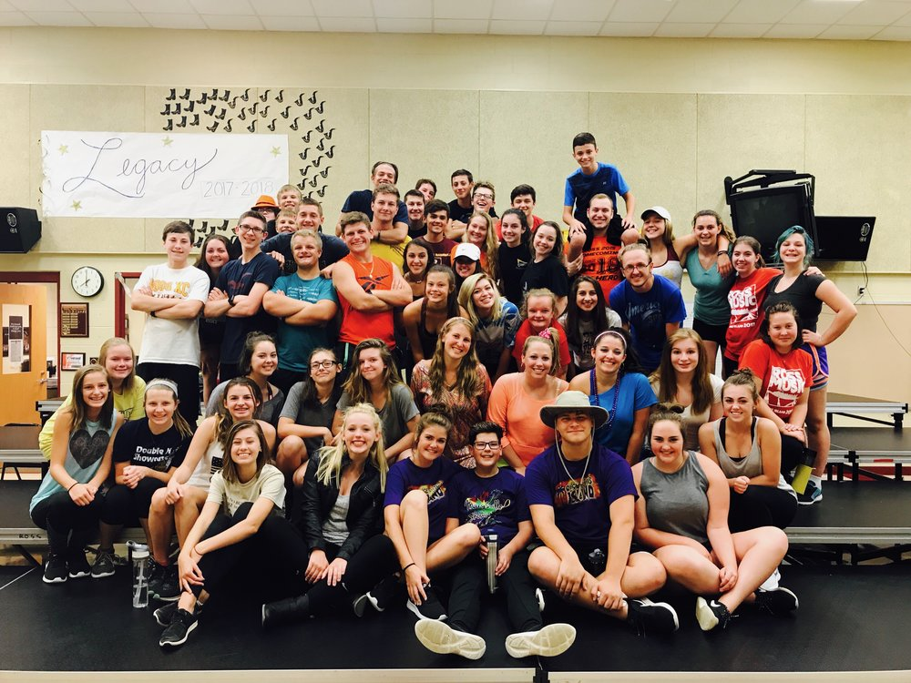 Ross High School's Legacy! - The Ross High School Show Choir is now rebranded as Legacy! They just completed a week-long camp, learning and polishing their 2017-2018 competition show! Great job, Legacy!